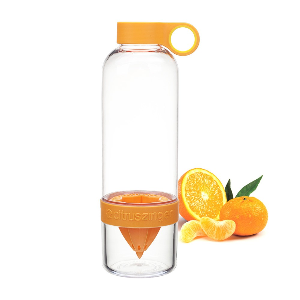 Citrus Zinger, bouteille presse agrume infuseur Zing Anything vinetcuisine