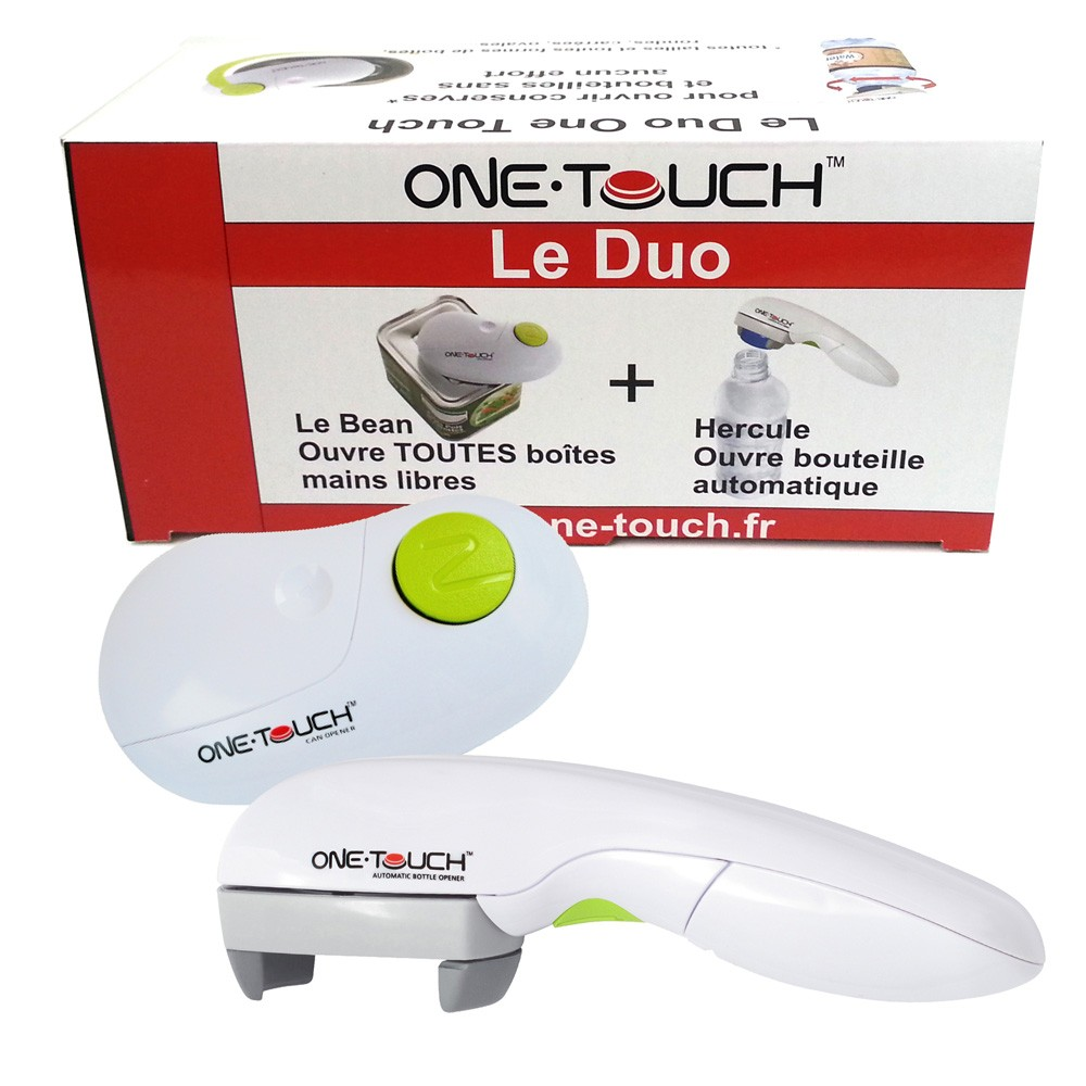 Coffret Le Duo One Touch Ouvre boîte + Ouvre bouteille vinetcuisine