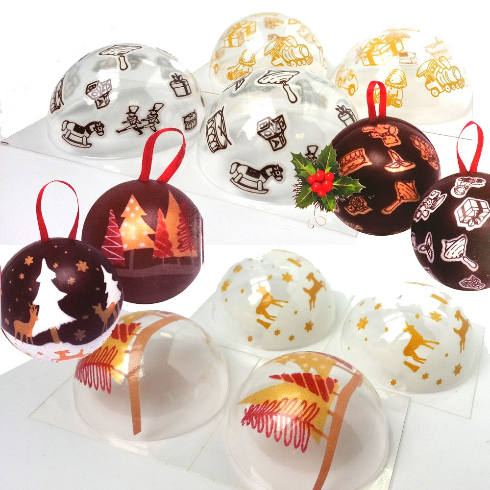 Lot de 2 coffrets Boules de Noël à chocolater daudignac vinetcuisine