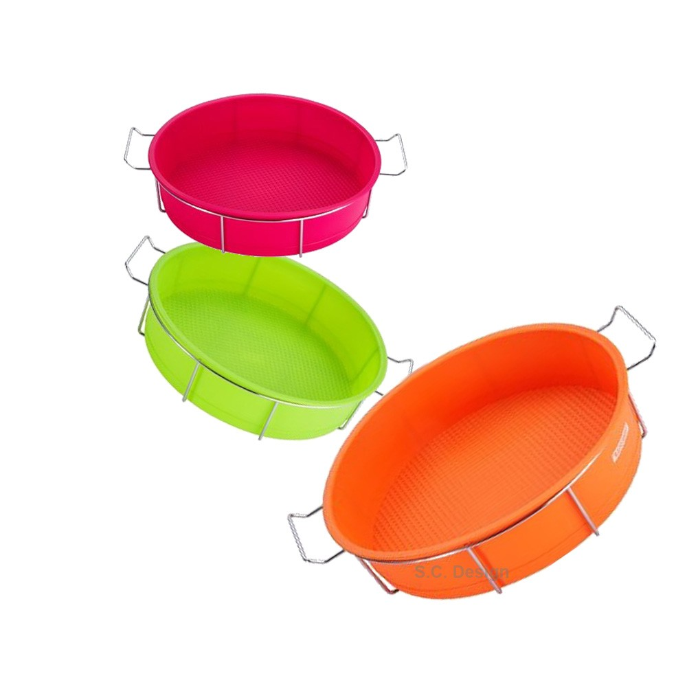 Moule rond silicone support inox Kaiserhoff vinetcuisine