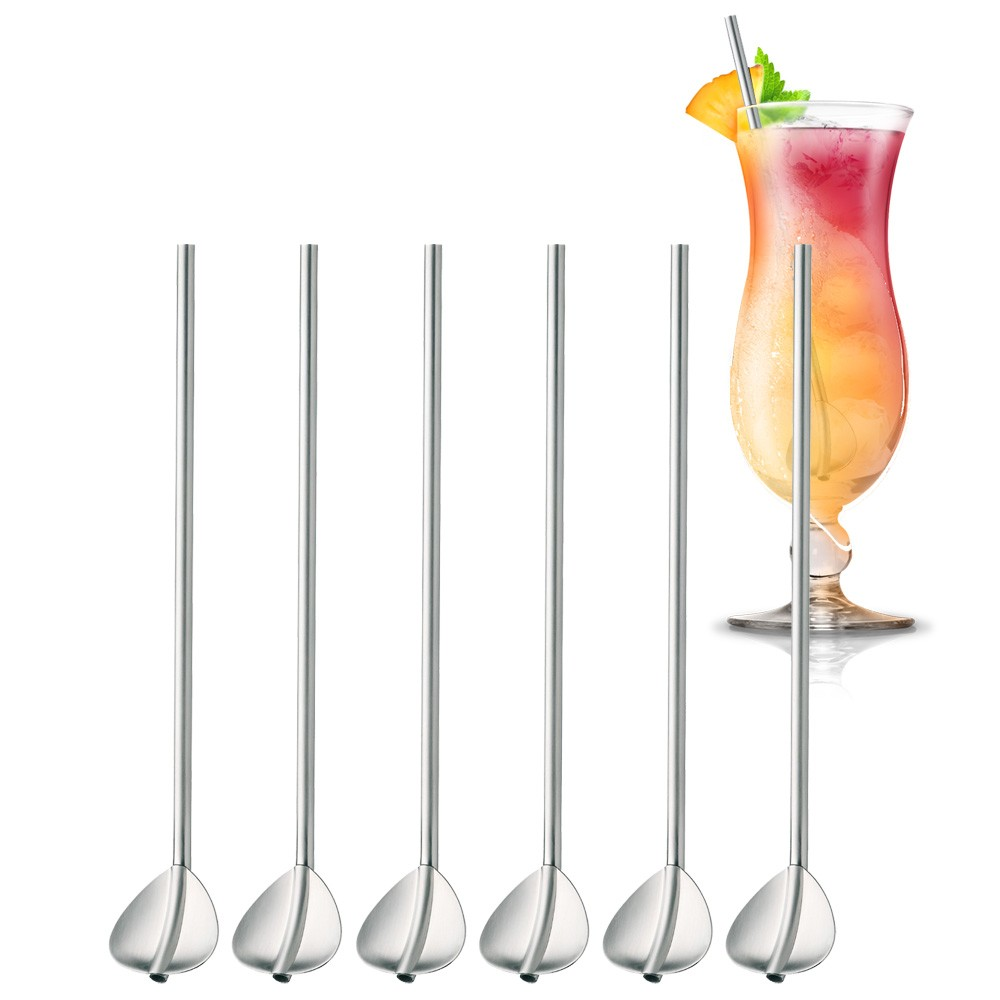 Cuillères Mélangeurs à cocktail Long Drinks Inox X6 WMF vinetcuisine