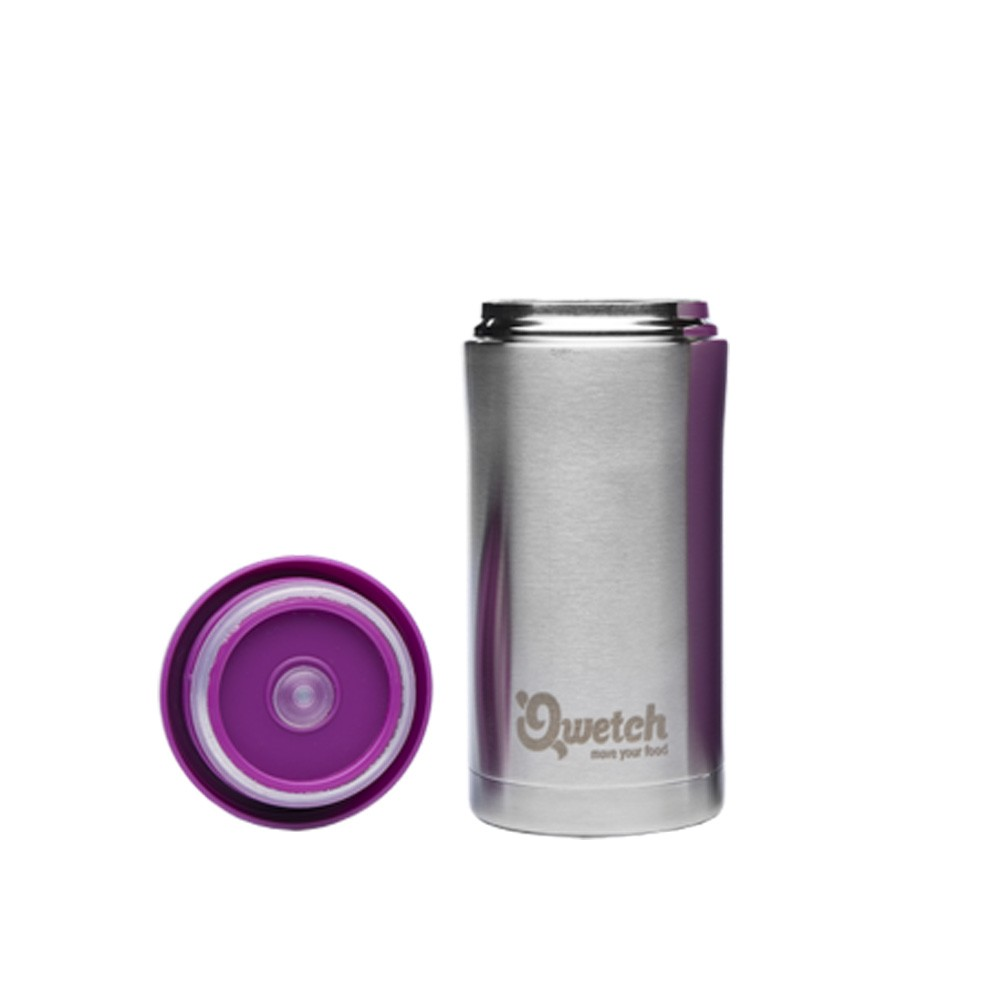 Travel Mug isotherme inox 280 ml Acier brossé Qwetch vinetcuisine
